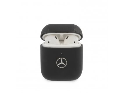 Pouzdro pro sluchátka AirPods - Mercedes, Leather Black