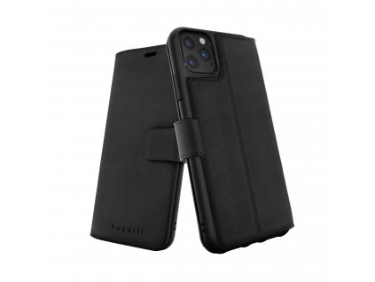 Knížkové pouzdro na iPhone 11 Pro - Bugattti, Zurigo Black