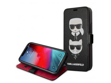 Ochranné pouzdro pro iPhone 12 mini - Karl Lagerfeld, Heads Book Black