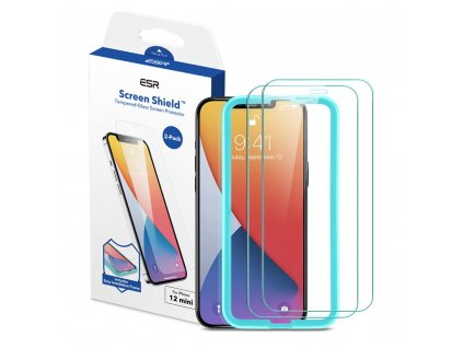 Ochranné tvrzené sklo pro iPhone 12 mini - ESR, Screen Shield (2ks)