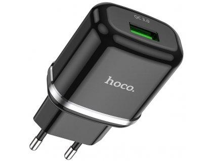 Nabíjecí USB adaptér - Hoco, N3 QC3.0 18W Black