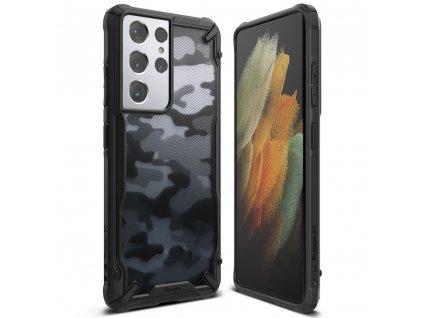 Ochranný kryt pro Samsung GALAXY S21 ULTRA - Ringke, Fusion-X Camo