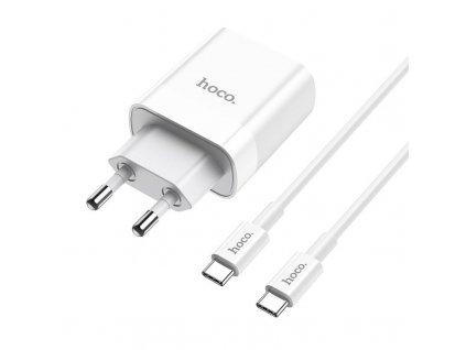 Rychlá nabíječka do sítě - Hoco, C80A PD20W/QC3.0 + USB-C kabel