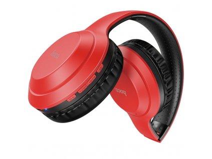 Bezdrátová náhlavní sluchátka - Hoco, W30 FunMove Red