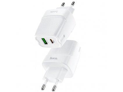 Rychlá USB nabíječka do sítě - Hoco, C85A Bright PD20W/QC3.0