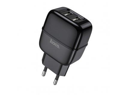 Nabíjecí USB adaptér do zásuvky - Hoco, C77A Highway 2.4A Black