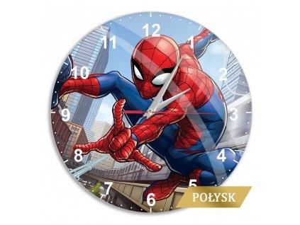 Zegar scienny z polyskiem Spider Man 004 Marvel Wielobarwny