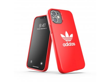 Ochranný kryt na iPhone 12 mini - Adidas, Snap Case Trefoil Red