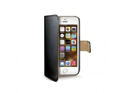 Pouzdro / kryt pro Apple iPhone 5 / 5S / SE - CELLY, Wally Black