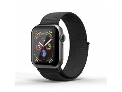 Řemínek pro Apple Watch 42mm / 44mm - SuperDry, Nylon Black