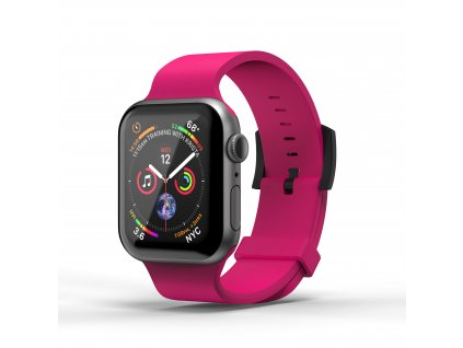 Řemínek pro Apple Watch 38mm / 40mm - SuperDry, Silicone Pink