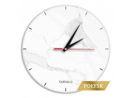 Zegar scienny z polyskiem Abstrakt 007 Babaco Wielobarwny