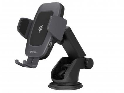 Univerzální držák do auta / bezdrátová rychlá nabíječka - Devia, Navigation Wireless Charger