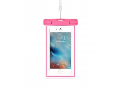 Plážové voděodolné pouzdro na mobil - Devia, Waterproof Bag Pink