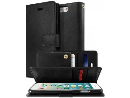 Knížkové pouzdro na iPhone 7 Plus / 8 Plus - Mercury, Mansoor Diary Black