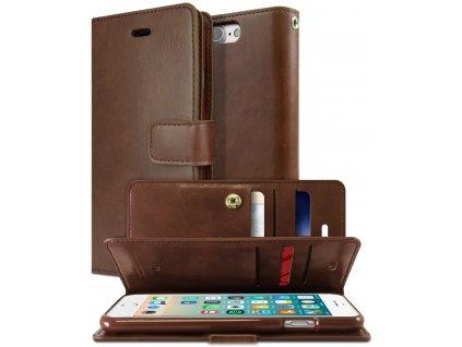 Knížkové pouzdro na iPhone 7 Plus / 8 Plus - Mercury, Mansoor Diary Brown