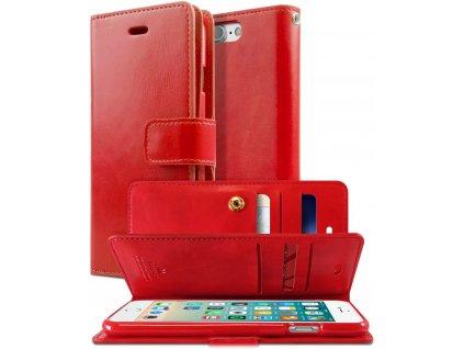 Knížkové pouzdro na iPhone 7 Plus / 8 Plus - Mercury, Mansoor Diary Red