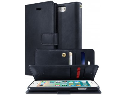 Knížkové pouzdro na iPhone 7 Plus / 8 Plus - Mercury, Mansoor Diary Navy