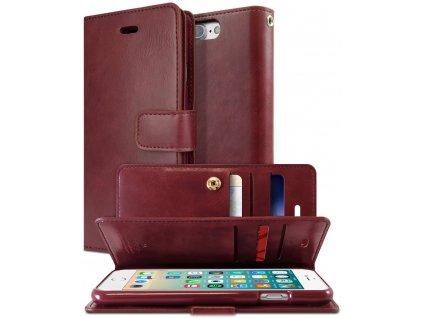 Knížkové pouzdro na iPhone 7 Plus / 8 Plus - Mercury, Mansoor Diary Wine