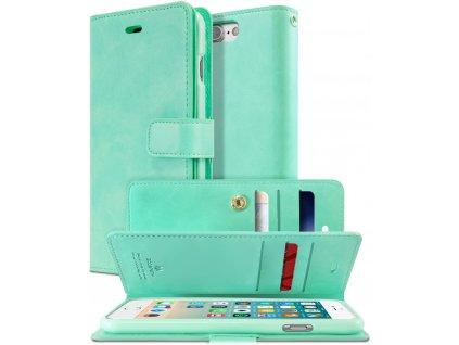 Knížkové pouzdro na iPhone 7 Plus / 8 Plus - Mercury, Mansoor Diary Mint