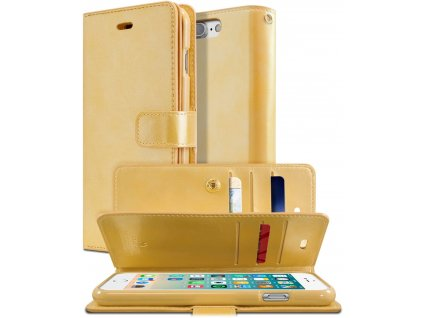 Knížkové pouzdro na iPhone 7 Plus / 8 Plus - Mercury, Mansoor Diary Gold