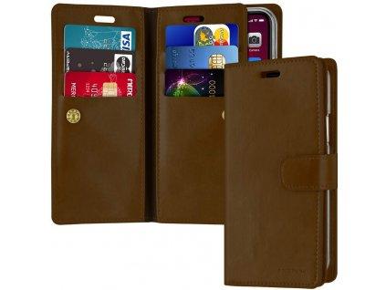 Knížkové pouzdro na iPhone 11 - Mercury, Mansoor Diary Brown
