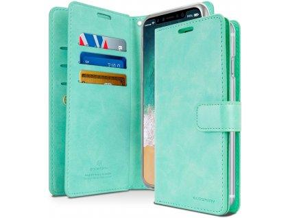 Knížkové pouzdro na iPhone XR - Mercury, Mansoor Diary Mint
