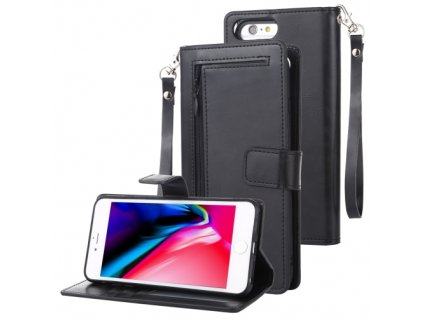 Knížkové pouzdro na iPhone 6 Plus / 6S Plus / 7 Plus / 8 Plus - Mercury, Detachable Diary Black