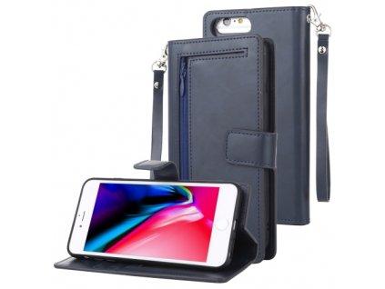 Knížkové pouzdro na iPhone 6 Plus / 6S Plus / 7 Plus / 8 Plus - Mercury, Detachable Diary Navy