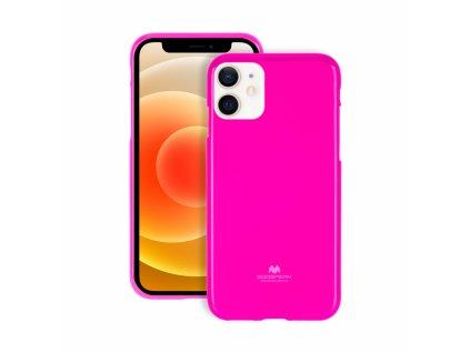 Ochranný kryt pro iPhone 12 mini - Mercury, Fluorscence Jelly HotPink