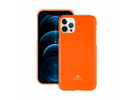 Ochranný kryt pro iPhone 12 / 12 Pro - Mercury, Fluorscence Jelly Orange
