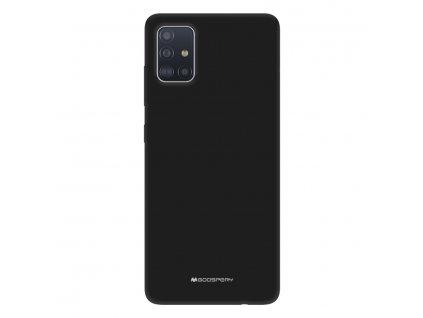 Ochranný kryt na Samsung GALAXY A71 A715F - Mercury, Soft Feeling Black
