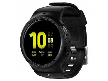 Řemínek s krytem pro Samsung Galaxy Watch Active 2 44mm - Spigen, Rugged Armor Pro Black