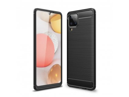 Ochranný kryt pro Samsung Galaxy M12 - Tech-Protect, Tpucarbon Black