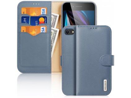 Knížkové pouzdro na iPhone 7 / 8 / SE (2020) - DuxDucis, Hivo Blue