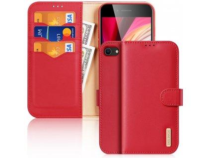 Knížkové pouzdro na iPhone 7 / 8 / SE (2020) - DuxDucis, Hivo Red