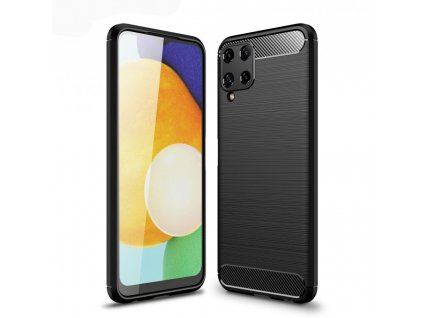 Ochranný kryt pro Samsung Galaxy A22 LTE - Tech-Protect, Tpucarbon Black
