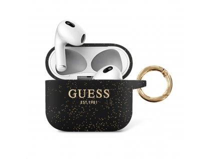 Pouzdro na sluchátka AirPods 3 - Guess, Glitter Black