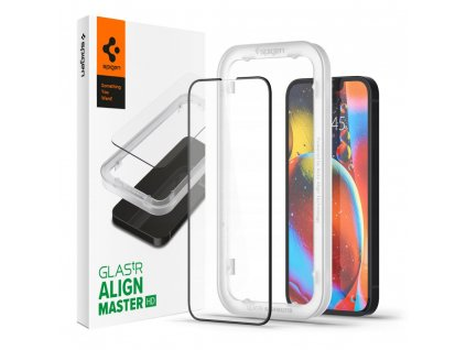 Ochranné tvrzené sklo pro iPhone 13 mini - Spigen, AlignMaster FC (1ks s aplikátorem)