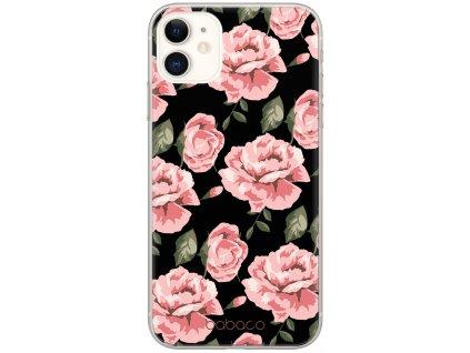 Ochranný kryt pro iPhone 13 - Babaco, Flowers 013 Black