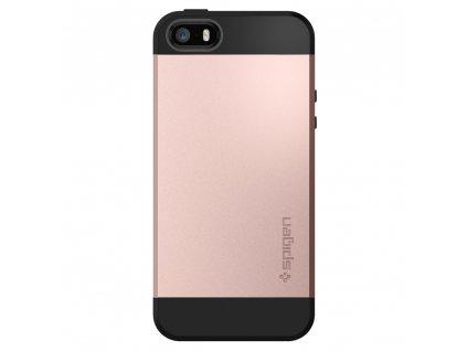 Pouzdro / kryt pro Apple iPhone 5 / 5S / SE - Spigen, Slim Armor Rose Gold