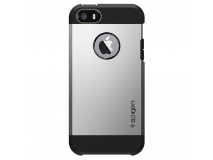 Pouzdro / kryt pro Apple iPhone 5 / 5S / SE - Spigen, Tough Armor Satin Silver