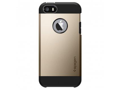 Pouzdro / kryt pro Apple iPhone 5 / 5S / SE - Spigen, Tough Armor Champagne Gold