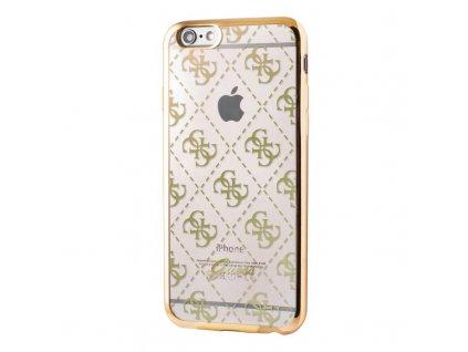 Pouzdro / kryt pro Apple iPhone 6 / 6S - Guess, 4G TPU Gold