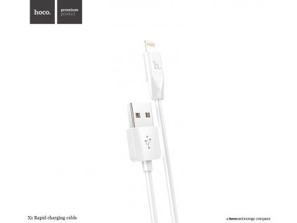 Kabel lightning pro iPhone a iPad - Hoco, X1 White 200cm