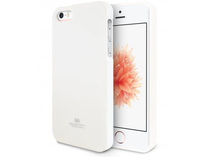Pouzdro / kryt pro Apple iPhone 5 / 5S / SE - Mercury, Jelly Case White