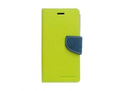 Pouzdro / kryt pro Apple iPhone 5 / 5S / SE - Mercury, Fancy Diary Lime/Navy