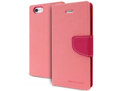 Pouzdro / kryt pro Apple iPhone 6 / 6S - Mercury, Fancy Diary Pink/Hotpink