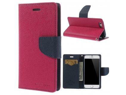 Pouzdro / kryt pro Apple iPhone 6 / 6S - Mercury, Fancy Diary Hotpink/Navy