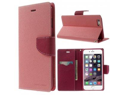 Pouzdro / kryt pro Apple iPhone 6 Plus / 6S Plus - Mercury, Fancy Diary PINK/HOTPINK